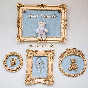Coleção de quadro porta maternidade e composição Completa Blue Sky