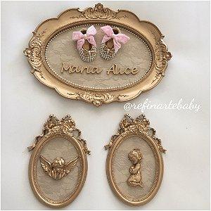 Composição Quadros Baby Girl Luxo