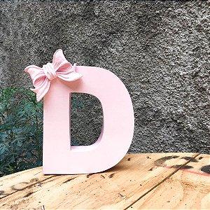 Letra Inicial Lacinho Rosa