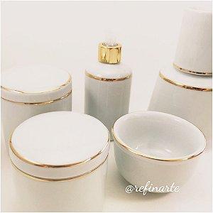Kit higiene filete dourado 5 Peças