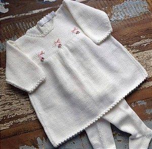 Saída de Maternidade Vestido Sinho e Meia Calça