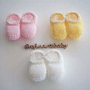 Sapatinhos de Bebê em Tricô Perolado