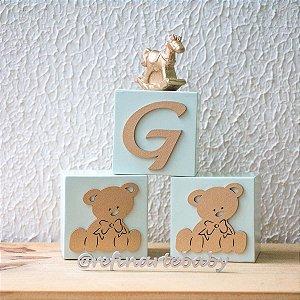Composição Cubo Inicial do Bebê e Ursos