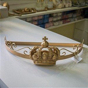 Dossel de parede Arabesco com aplique de Coroa G