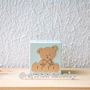 Cubo Verde Menta e Ursinho