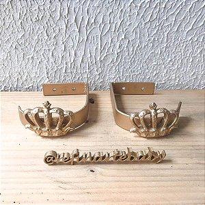 Par de Abraçadeiras Coroa Real para Cortinado