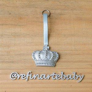 Chaveiro Lembrancinha de Maternidade Coroa Dinamarquesa
