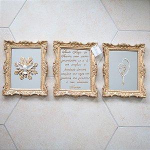 Composição de Quadros Completa Megumi Espelhado com Terço