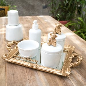 Kit Higiene Completo Ursinha Bela com moringa