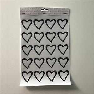 Adesivo de parede coração vazado