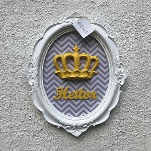Quadro Nobre Coroa Chevron com Amarelo