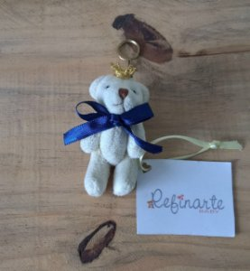 Chaveiro Maternidade Personalizado Ursinho Rei