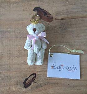 Chaveiro Maternidade Personalizado Ursinha Rainha