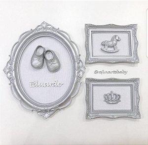 Composição de quadros sapatinho baby boy