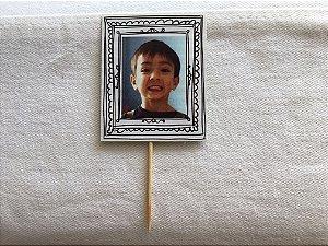 Topper Moldura com foto personalizada (10 unidades)