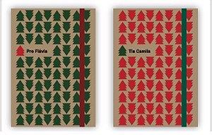 Caderninho Presente de Natal - com personalização de nome