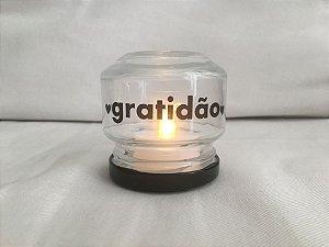 Mini Luminária de Led (6 cm) - GRATIDÃO (1 unidade)