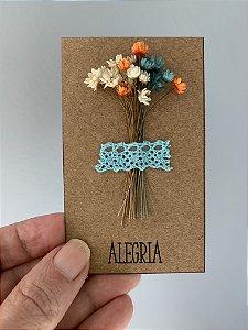 Mini-cartões floridos