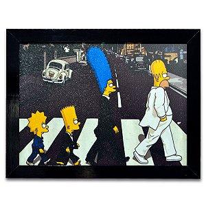 Quadro Os Simpsons Beatles - Grande