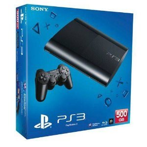 Console Playstation 3 Super Slim - 500GB - Com 65 Jogos no HD