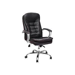 Cadeira Escritório Presidente Giratória Couro Pu Com Relax