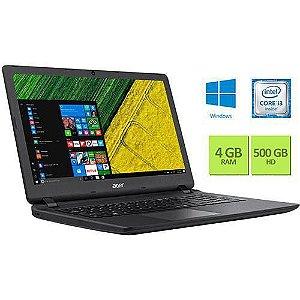 "Notebook Acer ES1-572-360J Intel Core i3 4GB 500GB Tela 15.6"" Windows 10 - Preto"