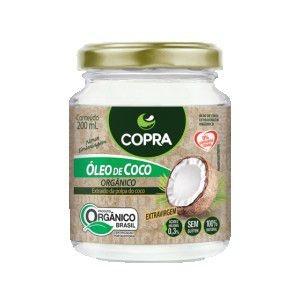Óleo de Coco Orgânico - Extra Virgem 200ml - Copra