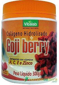 Colágeno Hidrolisado + Goji Berry sabor Framboesa Vitalab 300g