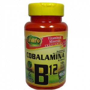 Vitamina B12 Vegana Unlife - 60 Cápsulas de 450mg