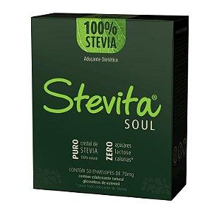 Stevita Soul Adoçante Premium - Zero Açúcar 50 Envelopes