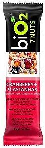 Barra de Cereal Orgânica Sabor Cranberry + 7 Castanhas Bio2 25g