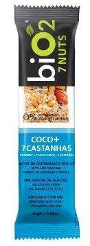 Barra de Cereal Orgânica Sabor Coco +7 Castanhas Bio2 25g
