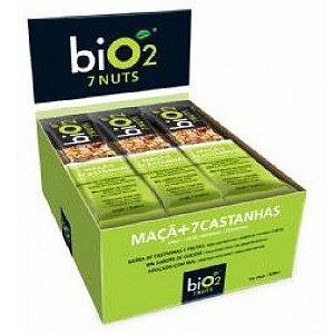 Barra de Cereal Bio2 Maçã + 7 Castanhas 12un de 25g