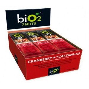 Barra de Cereal Bio2 Cranberry + 7 Castanhas 12un de 25g