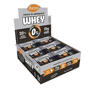 Paçoca com Whey Zero Açúcar Flormel 12 unidades de 28g