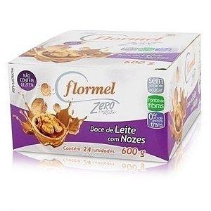 Doce de Leite com Nozes Zero Açúcar - Flormel 23unid x 25g