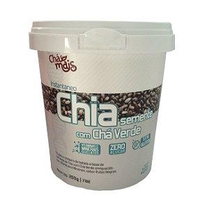 Instantâneo de Semente de Chia com Chá Verde Zero Açúcar Sabor Frutas Negras Chá Mais 200g
