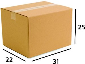 25 Caixas de Papelão Correios Sedex Pac Nº23 - C:31 X L:22 X A:25 cm
