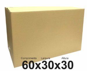 Caixa de Papelão para mudança Nova - Pac Nº30 C:60 X L:30 X A:30 cm