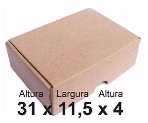 25 Caixas de Papelão Correios Sedex Pac Nº26 C:31 X L:11 X A:4 cm
