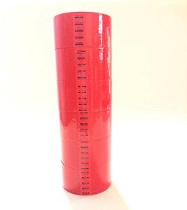 6 Rolos Fita Adesiva Vermelha   48mm x 50 metros Alltape