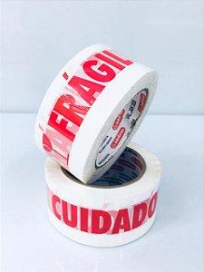 Fita Adesiva CUIDADO FRAGIL  48mm x 100 metros - ALDEBRAS