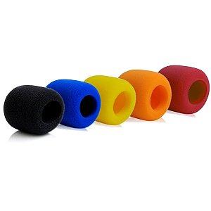 Espuma Para Microfone Pacote Com 5 Unidades Coloridas S40v5