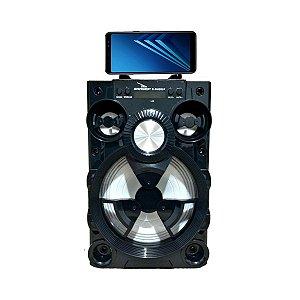 Caixa Som Bluetooth Led Radio Portátil 15w Grasep