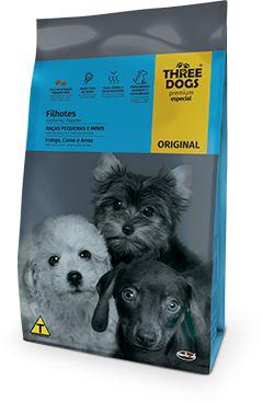 Three Dogs Original Filhotes Raças Pequenas e Minis 10,1kg