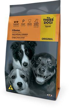 Three Dogs Original Filhotes Raças Médias e Grandes 15kg