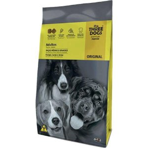 Three Dogs Original Adultos Raças Médias e Grandes 10,1kg