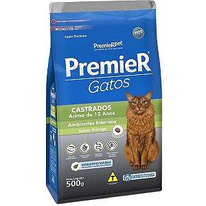 Premier Gatos Adultos - Castrados - Acima 12 Anos 500g