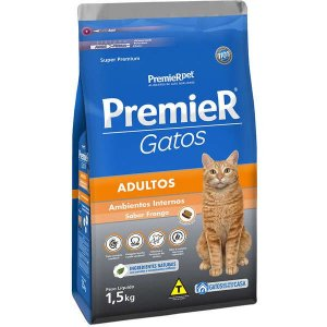 Premier Gatos Adultos - Frango 1,5kg
