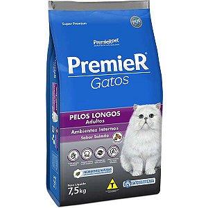 Premier Gatos Adultos - Pelo Longo Frango 7,5kg
